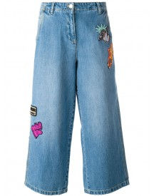 Kenzo - Patch Detail Cropped Jeans - Women - Cotton - 38 afbeelding
