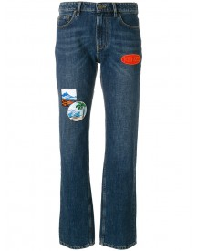 Kenzo - Patchwork Straight-leg Jeans - Women - Cotton - 38 afbeelding