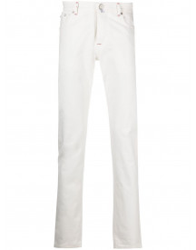 Kiton Slim-fit Jeans - Wit afbeelding