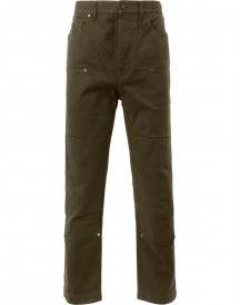 Lanvin - Panelled Denim Trousers - Men - Cotton/calf Leather/polyester - 30 afbeelding