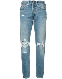 Levi's - Distressed High-rise Jeans - Women - Cotton - 29 afbeelding