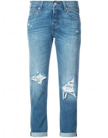 Levi's - Distressed Straight Jeans - Women - Cotton/viscose - 27 afbeelding