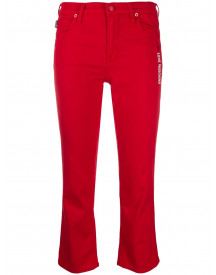 Love Moschino Cropped Jeans - Rood afbeelding