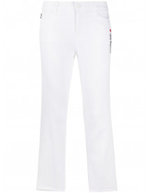 Love Moschino Cropped Jeans - Wit afbeelding