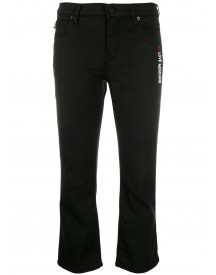 Love Moschino Cropped Jeans - Zwart afbeelding