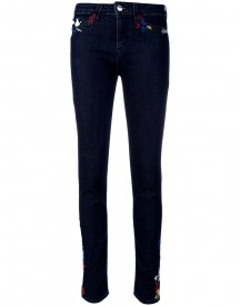 Love Moschino - Embroidered Stitching Skinny Jeans - Women - Cotton/spandex/elastane - 26 afbeelding