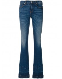 Love Moschino - Faded Bootcut Jeans - Women - Cotton/spandex/elastane - 26 afbeelding