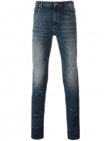 Maison Margiela - Distressed Skinny Fit Jeans - Men - Cotton/spandex/elastane - 30 afbeelding