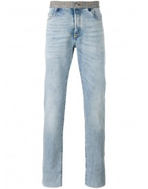 Maison Margiela - Re-edition Contrast Waistband Jeans - Men - Cotton - 30 afbeelding