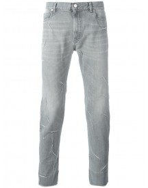 Maison Margiela - Ripped Detailing Slim-fit Jeans - Men - Cotton - 34 afbeelding
