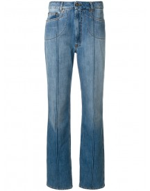 Maison Margiela - Stripe Detail Straight Leg Jeans - Women - Cotton - 40 afbeelding