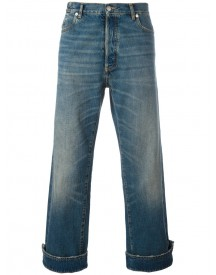 Maison Margiela - Turn-up Cuffs Cropped Jeans - Men - Cotton - 32 afbeelding