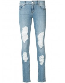 Marcelo Burlon County Of Milan - Distressed Dixie Skinny Jeans - Women - Cotton/spandex/elastane - 30 afbeelding