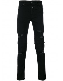 Marcelo Burlon County Of Milan - Distressed Skinny Jeans - Men - Cotton/polyester/polyurethane - 31 afbeelding