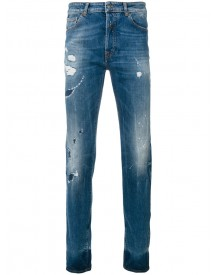 Marcelo Burlon County Of Milan - Mas Slim Fit Vintage Wash Jeans - Men - Cotton/polyester/spandex/elastane - 34 afbeelding