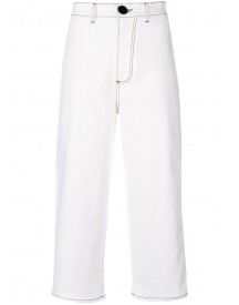Marni - High Waisted Denim Trousers - Women - Cotton/spandex/elastane - 40 afbeelding