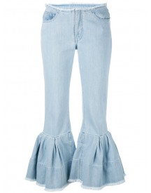 Marques'almeida - Flared Cuff Jeans - Women - Cotton - 8 afbeelding