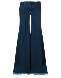 Marques'almeida - Fringed Flared Jeans - Women - Cotton - 8 afbeelding