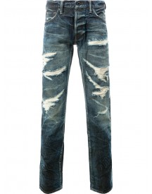 Mastercraft Union - Tapered Distressed Jeans - Men - Cotton - 36 afbeelding