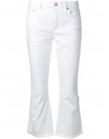 Michael Michael Kors Kick Flare Jeans - Wit afbeelding