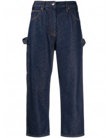 Mm6 Maison Margiela Cropped Jeans - Blauw afbeelding
