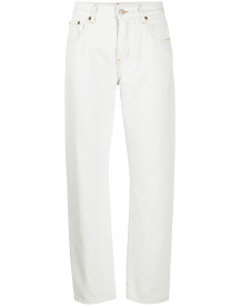 Mm6 Maison Margiela Cropped Jeans - Wit afbeelding