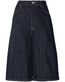 Mm6 Maison Margiela - Cropped Wide Leg Jeans - Women - Cotton - 40 afbeelding
