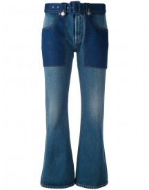 Mm6 Maison Margiela - Flared Cropped Jeans - Women - Cotton - 42 afbeelding