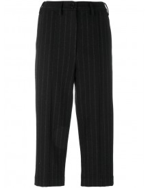 Mm6 Maison Margiela - Pinstripe Cropped Trousers - Women - Polyester/wool - 40 afbeelding
