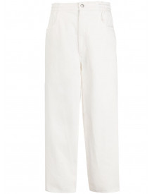 Mm6 Maison Margiela Straight Jeans - Wit afbeelding