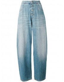 Mm6 Maison Margiela - Wide Leg Denim Pants - Women - Cotton/polyester - 42 afbeelding
