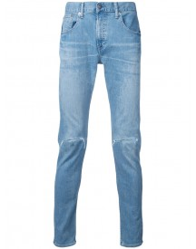 Monkey Time - Distressed Skinny Jeans - Men - Cotton - L afbeelding