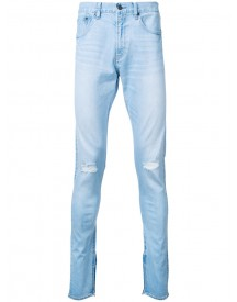 Monkey Time - Distressed Skinny Jeans - Men - Cotton - M afbeelding