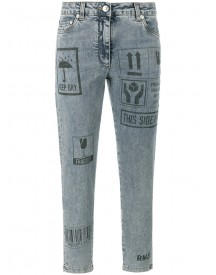 Moschino - Packaging Print Skinny Jeans - Women - Cotton/other Fibers - 44 afbeelding