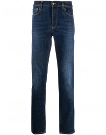 Moschino Slim-fit Jeans - Blauw afbeelding