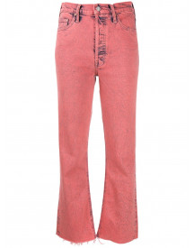 Mother Cropped Jeans - Roze afbeelding