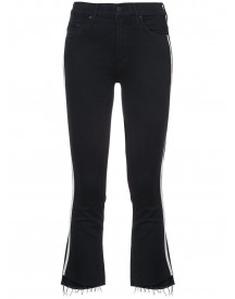 Mother Cropped Racer Jeans - Zwart afbeelding