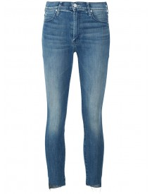 Mother - Frayed Skinny Jeans - Women - Cotton/spandex/elastane - 32 afbeelding