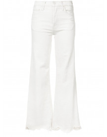 Mother High Waisted Cropped Jeans - Wit afbeelding