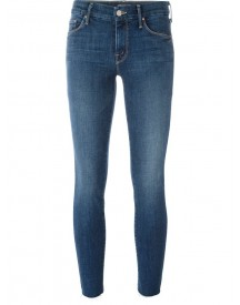 Mother - 'looker' Ankle Fray Jeans - Women - Cotton/polyester/spandex/elastane - 31 afbeelding