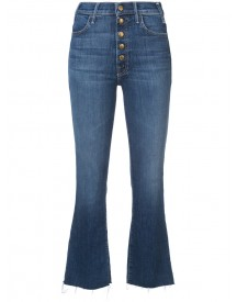 Mother - Multiple Buttons Cropped Jeans - Women - Cotton/polyester/spandex/elastane - 27 afbeelding