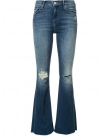 Mother - Ripped Detailing Flared Jeans - Women - Cotton/polyester/spandex/elastane - 25 afbeelding