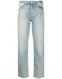 Mother Straight Jeans - Blauw afbeelding