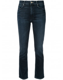 Mother The Midrise Dazzler Cropped Jeans - Blauw afbeelding