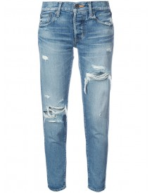 Moussy - Distressed Cropped Jeans - Women - Cotton - 27 afbeelding