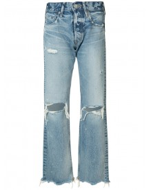 Moussy - Distressed High-rise Jeans - Women - Cotton - 26 afbeelding