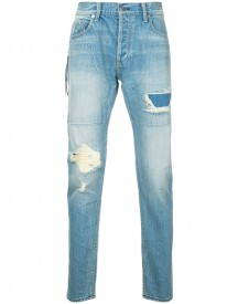 Mr. Completely - Stonewashed Distressed Jeans - Men - Cotton - 31 afbeelding