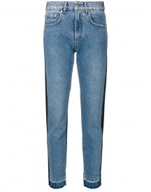 Msgm - Denim Two Tone Straight Leg Jeans - Women - Cotton/polyester - 42 afbeelding