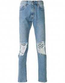 Msgm - Distressed Regular Jeans - Men - Cotton/polyester - 50 afbeelding