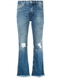 Msgm - Flared Jeans - Women - Cotton/polyester - 42 afbeelding